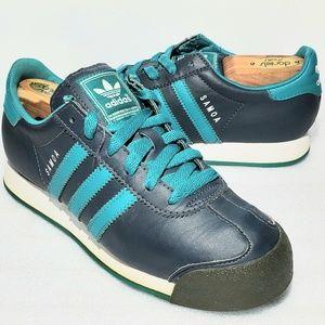 Womens Adidas Samoa Size 5 Sneaker Shoes Sea Green